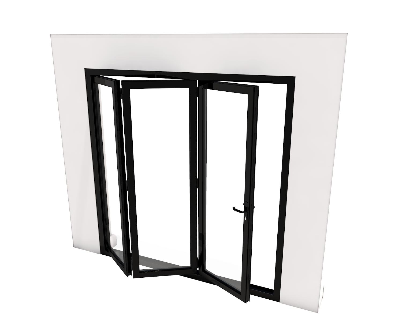 Bi-Fold Door - 3 panes - 3000 x 2100 mm