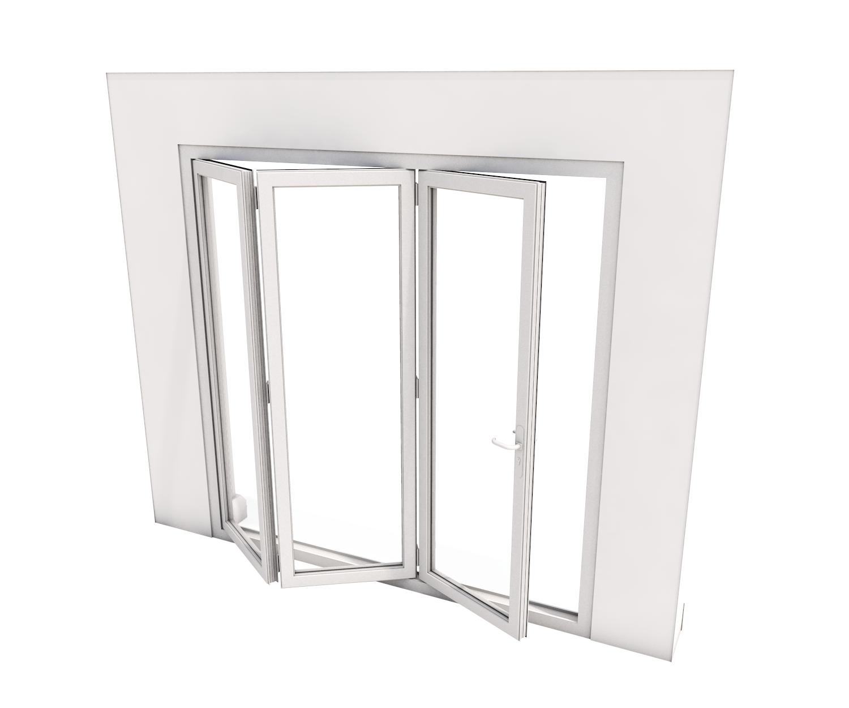Bi-Fold Door - 3 panes - 3500 x 2100 mm