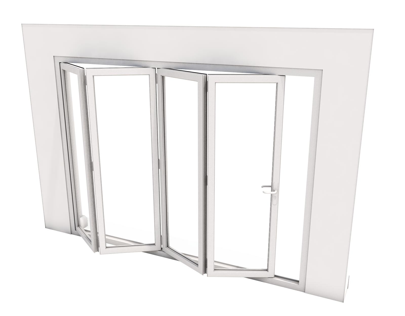 Bi-Fold Door - 4 panes - 4000 x 2100 mm