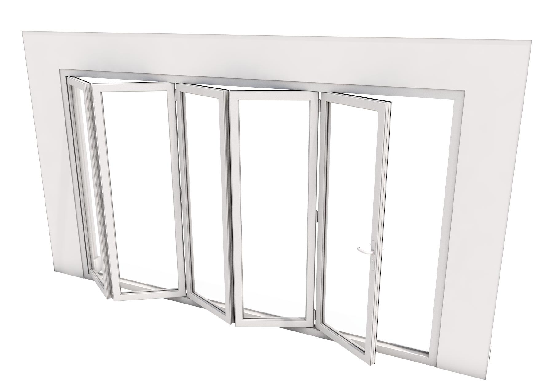Bi-Fold Door - 5 panes - 4500 x 2100 mm