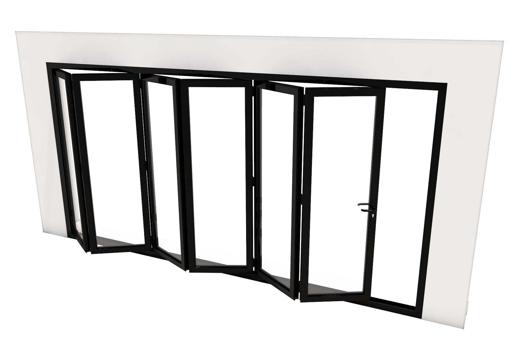 Bi-Fold Door - 6 panes - 5000 x 2100 mm