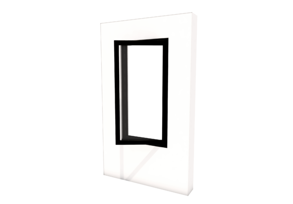 Smart Alitherm 300 Window - 600 x 1200 mm - Hinge Side Right (VFO)
