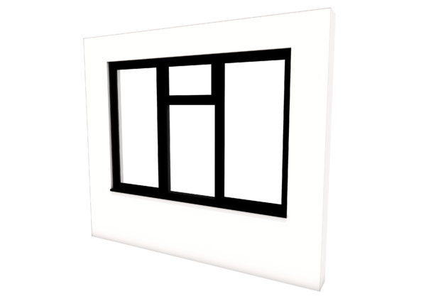 Smart Alitherm 300 Window - 1800 x 1200 mm - 3 Opening