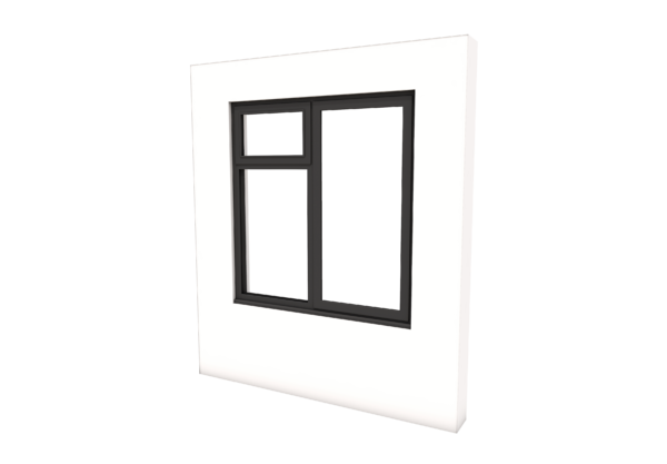 Smart Alitherm 300 Window - 1200 x 1200 mm - Left Bottom Fixed