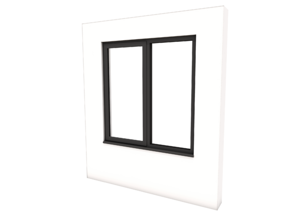 Smart Alitherm 300 Window - 1200 x 1200 mm - Right Fixed