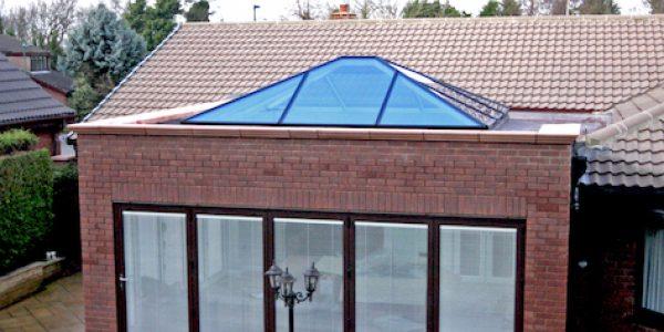 Our new aluminium lantern skylight.