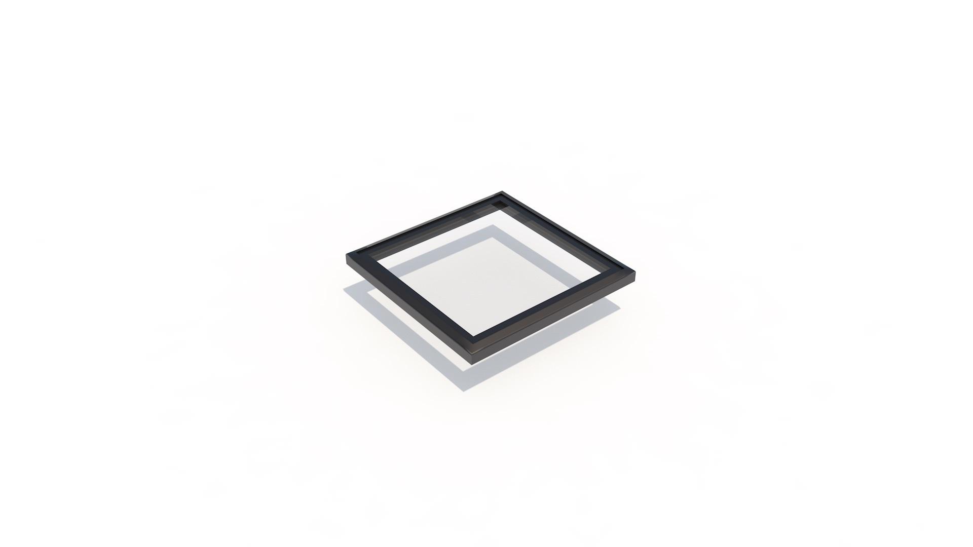 Frameless flat 500 x 500 - Frameless flat Skylight