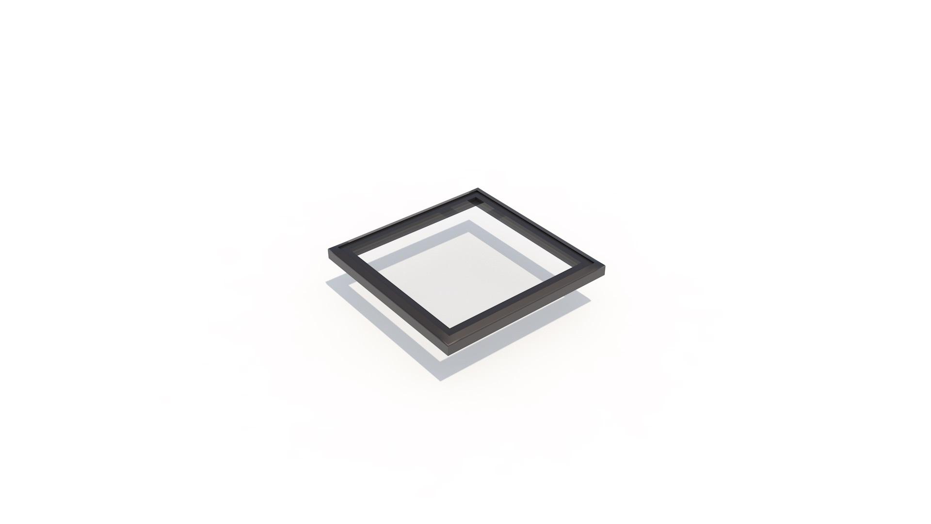 Frameless flat 1000 x 1000 - Frameless flat Skylight