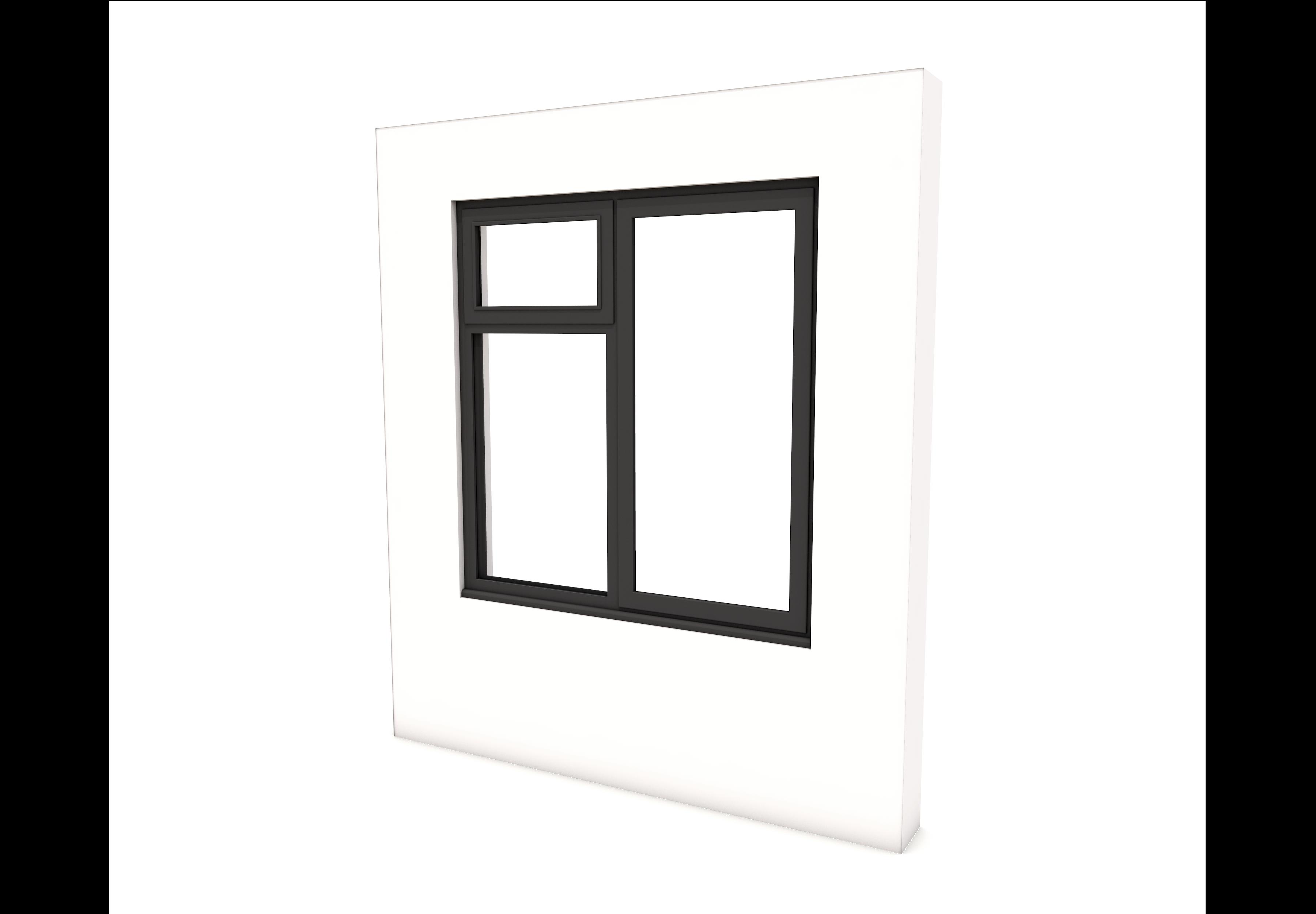 Smart Alitherm 300 Window - 1200 x 1200 mm - Left Bottom Fixed