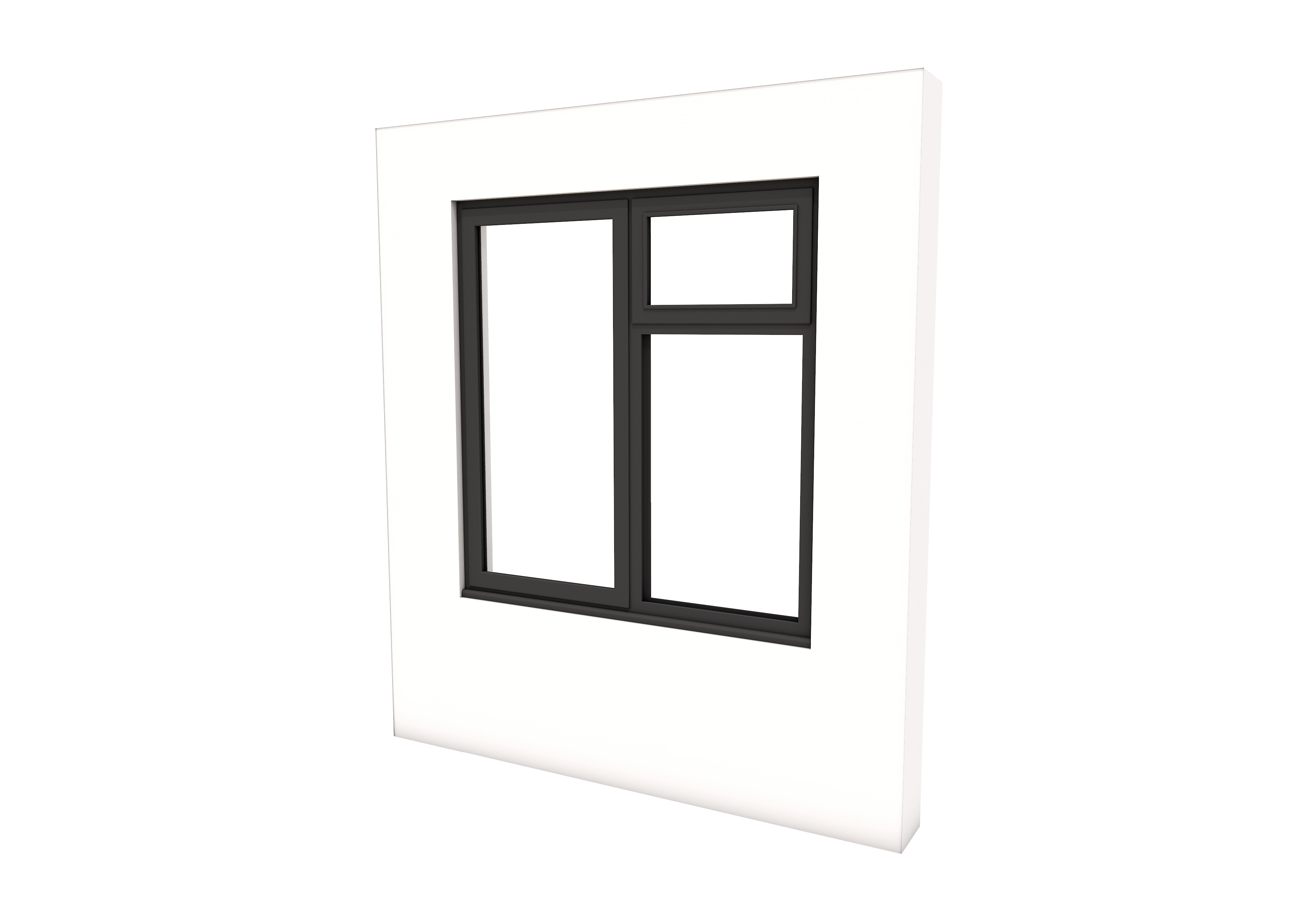 Smart Alitherm 300 Window - 1200 x 1200 mm - Right Bottom Fixed